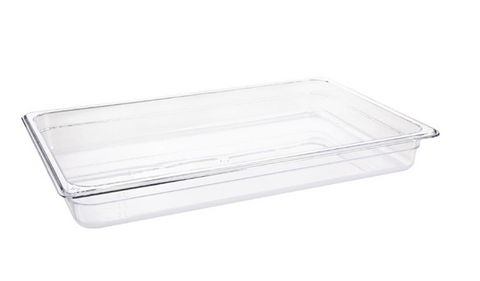 Vogue Clear Polycarbonate 1/1 Gastronorm Trays