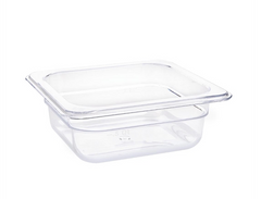 Vogue Clear Polycarbonate 1/6 Gastronorm Trays