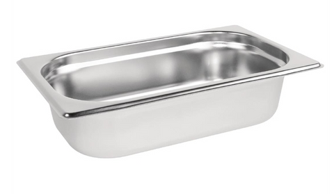 Vogue Stainless Steel 1/4 Gastronorm Trays