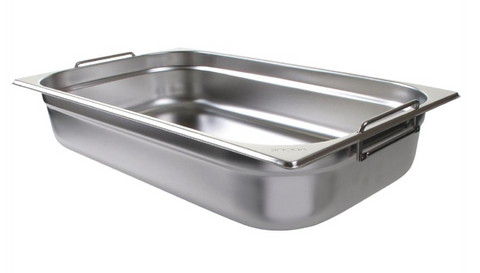 Vogue Stainless Steel 1/1 Gastronorm Pan with Handles 100mm - CB179-A