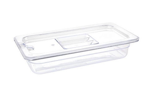 Vogue Clear Polycarbonate 1/3 Gastronorm Trays