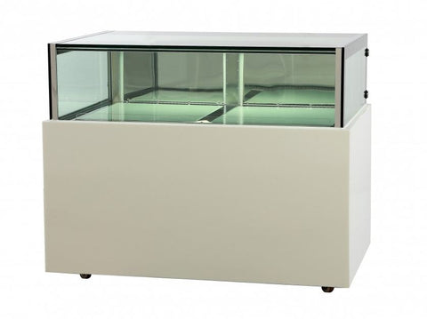 FED White marble chocolate display with storage - DS1200V