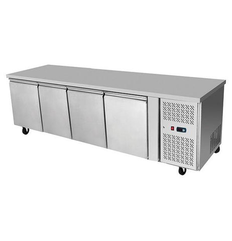 Atosa Stainless Steel 4 Solid Doors Undercounter Bench Fridge - EPF3442