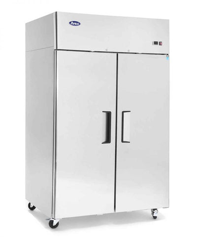 Atosa Top Mount 2 Solid Door Upright Fridge - MBF8005 - OzCoolers