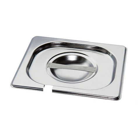 Mixrite Stainless Steel Lids With Cut For Spoon - Steel-Lid-Cut