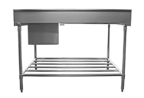 Mixrite Sink Bench With Splashback - W1200 X D700 X H900 - SS1712L
