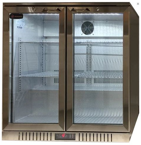 Crusader 2 Glass Door Backbar Refrigerator - CCE208SS