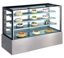 Exquisite Three tiers + base Cold Cake Display - CDC1500