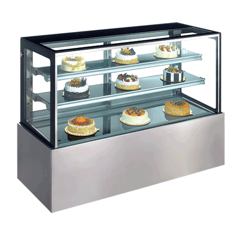Exquisite Two tiers + base Cold Cake Display - CDC902