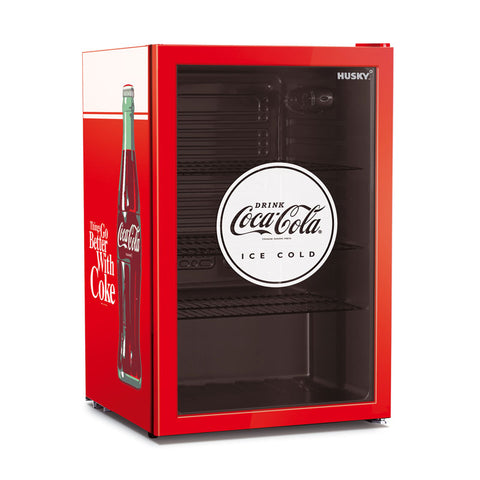 Husky 118L Coca-Cola Glass Door Bar Fridge CKK110-168-AU-HU - OzCoolers
