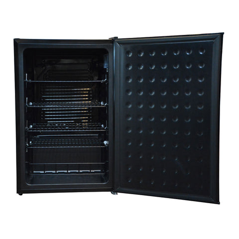 Husky 118L Solid Door Bar Fridge in Black - CKK110-264-BK-AU
