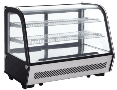 Exquisite Counter Top Cold Cake Display Curved Glass 160L - CTC160