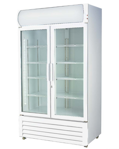 FED Double glass door colourbond upright drink fridge - LG-580GE