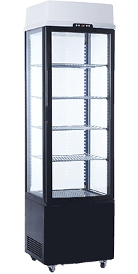 Exquisite Single Door Display Fridge w/Light Panel - CTD235