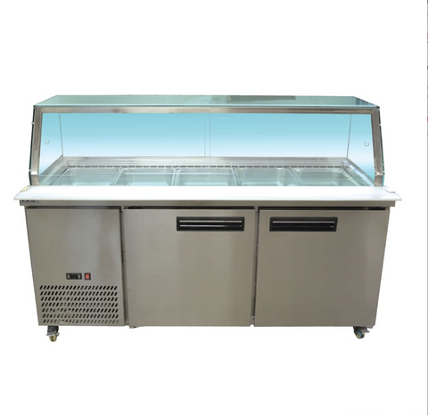 FED Cold Salad & Noodle Bar 5x1/1 GN Pans - PG180FA-YG