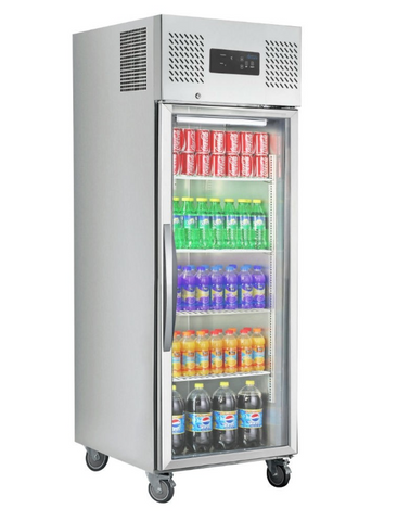 FED Single Door Upright Display Fridge - SUCG600