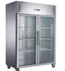 Image of FED-X S/S Two Full Glass Door Upright Fridge - XURC1200G2V