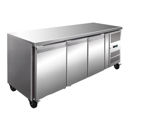FED TROPICALISED 3 Door Gastronorm Bench Freezer - GN3100BT