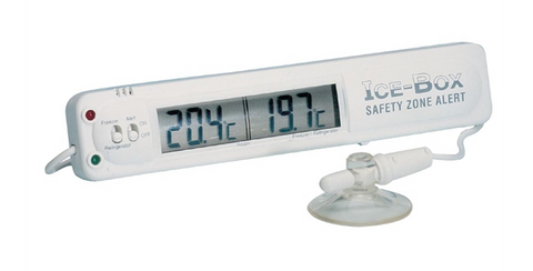 Hygiplas Digital Fridge Freezer Thermometer with Alarm