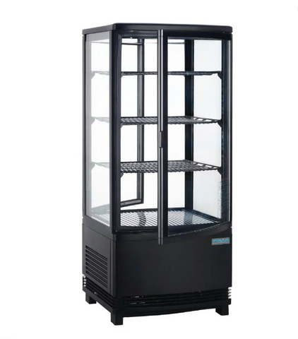 Polar C-Series Curved Door Display Fridge Black 86Ltr - DP288-A