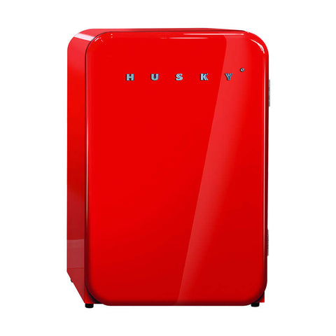Husky Undercounter Red Retro Bar Fridge 110Litre HUS-RETRO-110RED - OzCoolers