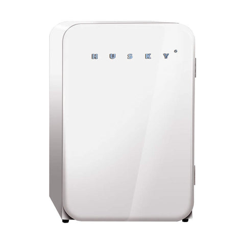 Husky 110L Retro Style Bar Fridge in White HUS-RETRO-110 WHT - OzCoolers