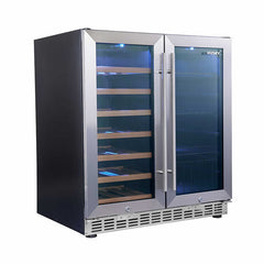 Husky Dual Door Wine Cabinet and Drink Chiller Stainless Steel - HUS-WC66B-ZY - OzCoolers