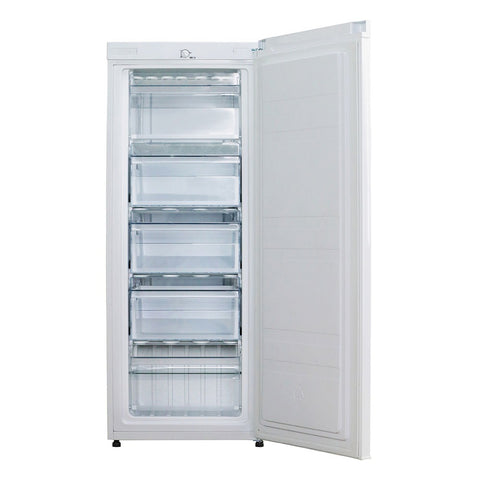 Husky 172L Solid Door Vertical Freezer in White - HUS-172VFWH
