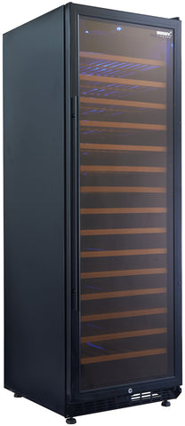 Husky Freestanding Single Zone Wine Cabinet - Black 166-168 Wine Bottle Capacity HUS-WC168S-BK-ZY - OzCoolers