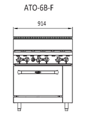 Cookrite 6 Burner With Oven - ATO-6B