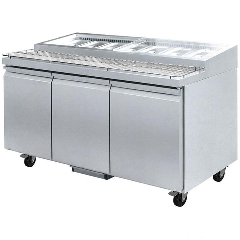 FED Three Door Pizza Prep Bench PWB200 - OzCoolers