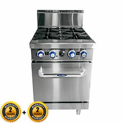 Cookrite 4 Burner With Oven - ATO-4B-NG