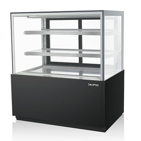 SKIPIO 1200mm Refrigerated Bakery Case 2 door 3 Shelves Plus Base - SB1200-3RD