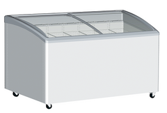 Exquisite Curved Glass Chest Freezer - SD575K
