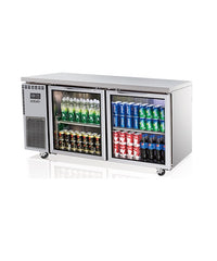 SKIPIO Underbench Fridge - 2 Glass Doors - SGR15-2
