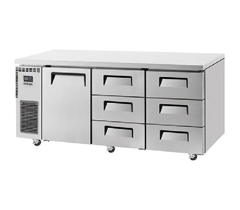 SKIPIO Undercounter Drawer Fridge - 538L - SUR18-3D-6