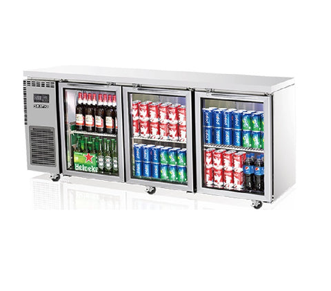 SKIPIO Underbench Fridge - 3 Glass Doors - SGR18-3