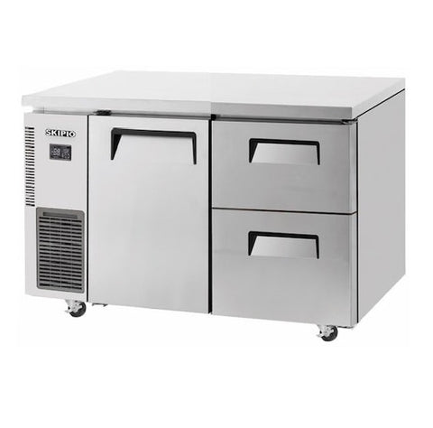 SKIPIO Modular 1 Door 2 Drawer Undercounter Freezer - SUF15-2D-2