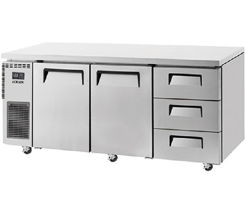 SKIPIO Undercounter Drawer Fridge - 538L - SUR18-3D-3