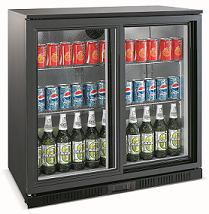 Exquisite Two Doors Backbar Chiller with Sliding Doors - UBC210S