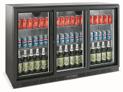 Exquisite Two Doors Backbar Chiller with Sliding Doors - UBC330S