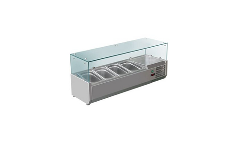 FED-X Flat Glass Salad Bench - XVRX1200/380