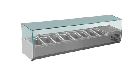FED-X Flat Glass Salad Bench - XVRX1800/380