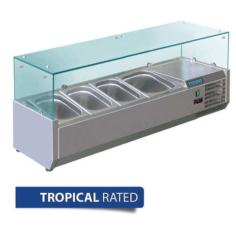 Polar Refrigerated Servery Topper 1200mm GD875-A - OzCoolers