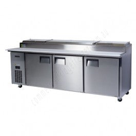 Skope Centaur 3 Door Pizza Prep Counter Fridge 733 Ltr - BC240-P-3RRRS-E - OzCoolers