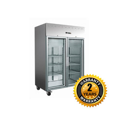 Exquisite Two Doors Stainless Steel Upright Chiller Glass Door - GSC1410G