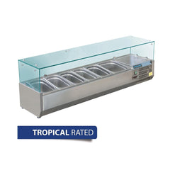 Polar Refrigerated Servery Topper 1500mm GD876-A - OzCoolers