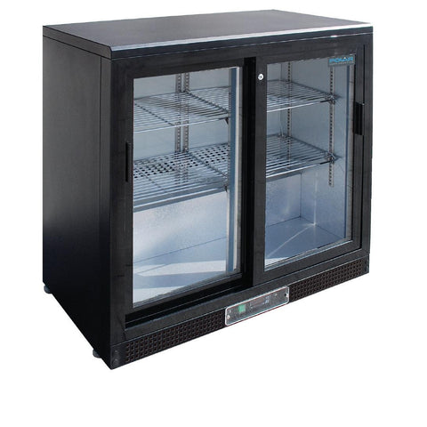 Polar Double Sliding Door Back Bar Cooler CF759-A - OzCoolers