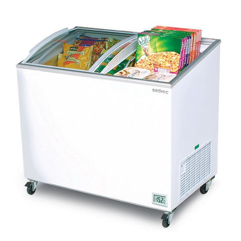 Bromic Angled Glass Top 264L Display Chest Freezer - CF0300ATCG - OzCoolers