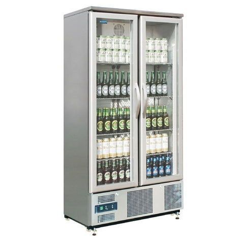 Polar Double Hinged Door Upright Back Bar Cooler CK477-A - OzCoolers